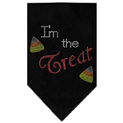 I'm the Treat Halloween rhinestone bandana black