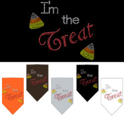 I'm the Treat Halloween rhinestone bandana