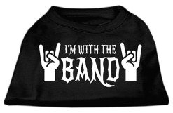 I'm with the band dog El Diablo hand signal t-shirt black