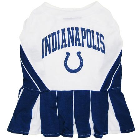 Indianapolis Colts NFL dog cheerleader dress