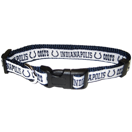 Indianapolis Colts NFL nylon dog collar
