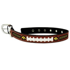 Iowa Hawkeye leather dog collar large