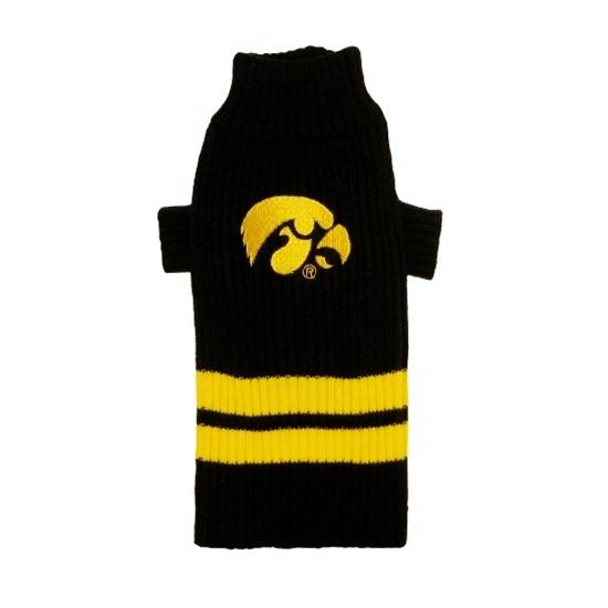 Iowa Hawkeyes NCAA dog sweater