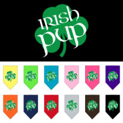 Irish Pup Shamrock dog bandana