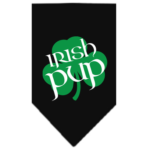 Irish Pup Shamrock dog bandana black