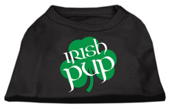 Irish Pup shamrock t-shirt sleeveless dog black