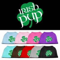 Irish Pup shamrock t-shirt sleeveless dog multi-color