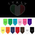 Italy flag rhinestone heart bandana