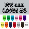 It's All About Me dog bandana