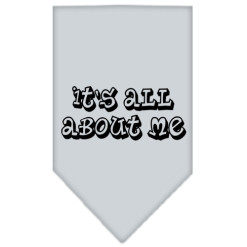 It's All About Me dog bandana gray