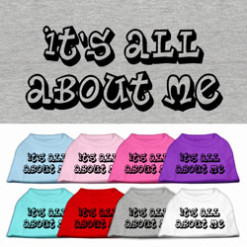 It's All About Me t-shirt sleeveless dog multi-color