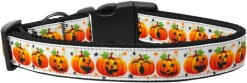 Jack-o-Lantern Facial Expressions Adjustable Dog Collar pumpkin for Halloween