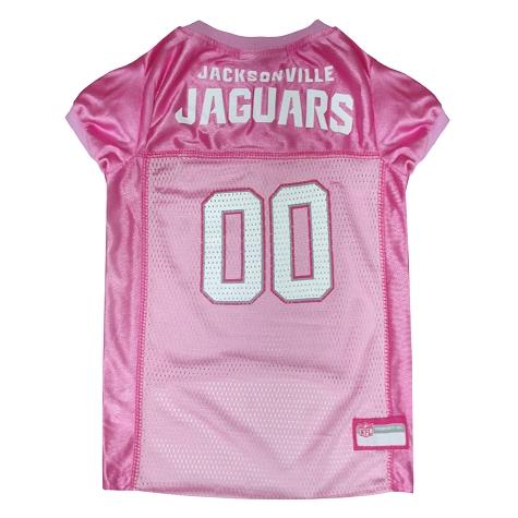 Jacksonville Jaguars Pink NFL Dog Jersey
