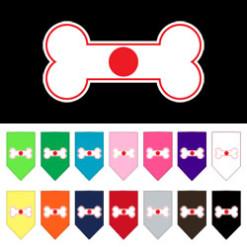 Japan dog flag bone bandana