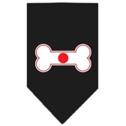 Japan dog flag bone bandana black