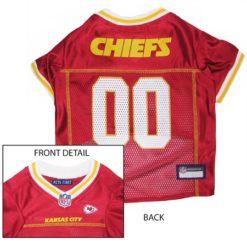 Kansas City Chiefs NFL dog jersey