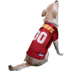 Kansas City Chiefs NFL dog jersey on pet