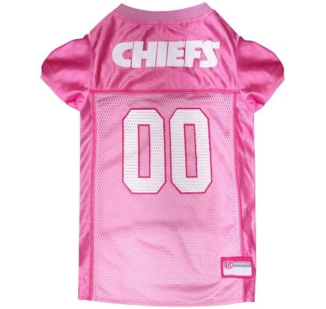 Kansas City Chiefs Dog Jersey - Pink