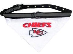 Kansas City Chiefs dog bandana and collar