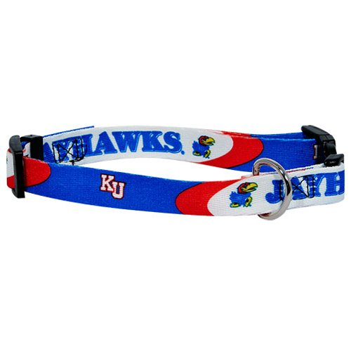 Kansas Jayhawks adjustable dog collar