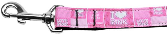 Keep Calm and Love Pink dog leash