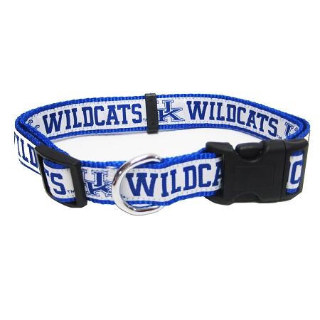 Kentucky Wildcats dog adjustable collar