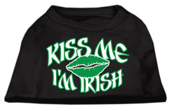 Kiss Me I'm Irish t-shirt sleeveless dog black