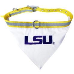 LSU Tigers Dog Bandana and Collar