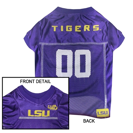LSU Tigers mesh dog jersey