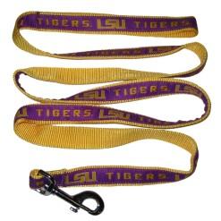LSU Tigers nylon dog leash