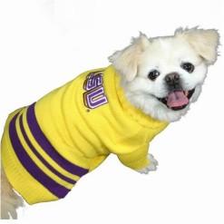 LSU Tigers sweater on pet