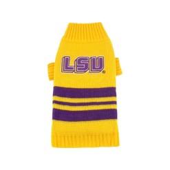 LSU Tigers turtleneck dog sweater