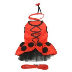 Ladybug Dog Costume with Antennae