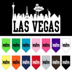 Las Vegas Skyline dog bandanas