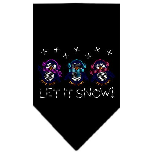 Let it Snow Penguins rhinestone dog bandana