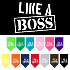Like a Boss meme dog bandana