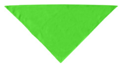 Lime green plain dog bandana