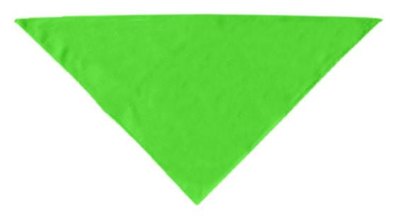 Lime green plain dog bandana
