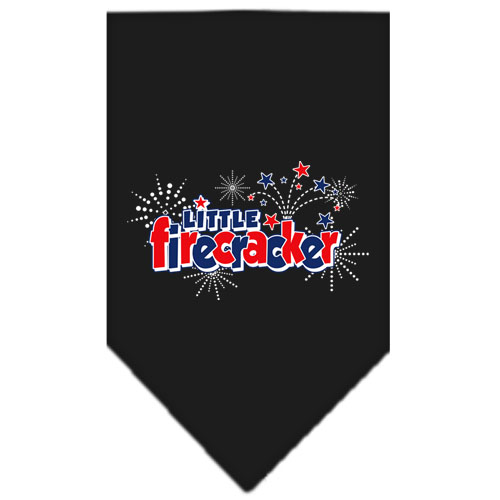 Little Firecracker stars dog bandana black