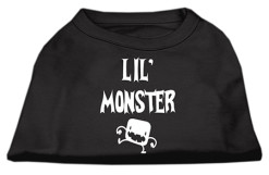 Little Monster t-shirt sleeveless dog black