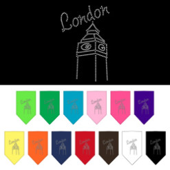 London Clock Tower rhinestone bandana