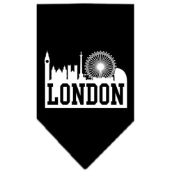 London Skyline silhouette dog bandana