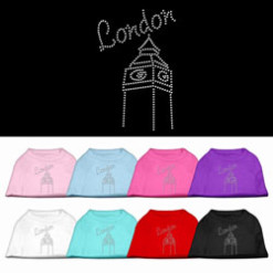 London clock tower rhinestones dog t-shirt colors