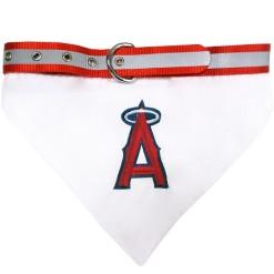 Los Angeles Angels adjustable dog collar and bandana