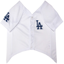 Los Angeles Dodgers MLB dog jersey front
