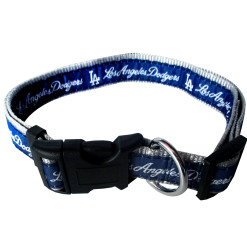 Los Angeles Dodgers nylon dog collar