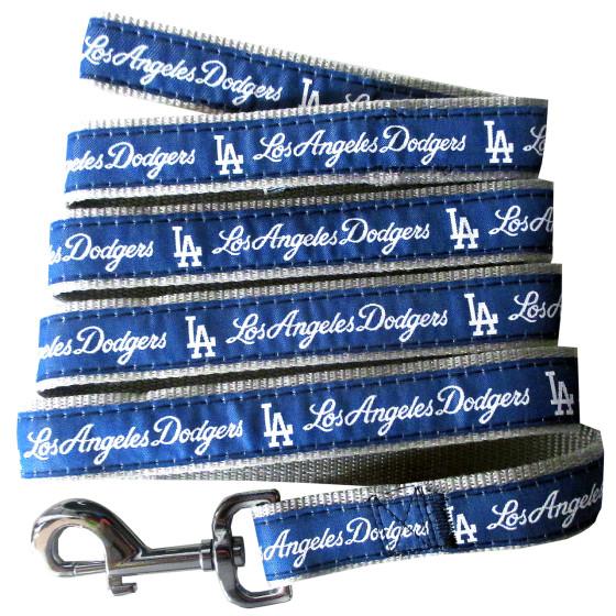 Los Angeles Dodgers nylon dog leash