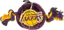 Los Angeles Lakers ball and rope toy dog