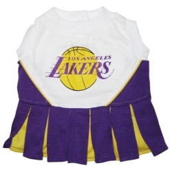 Los Angeles Lakers Dog Dress Cheerleader Outfit