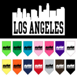 Los Angeles skyline silhouette dog bandana
